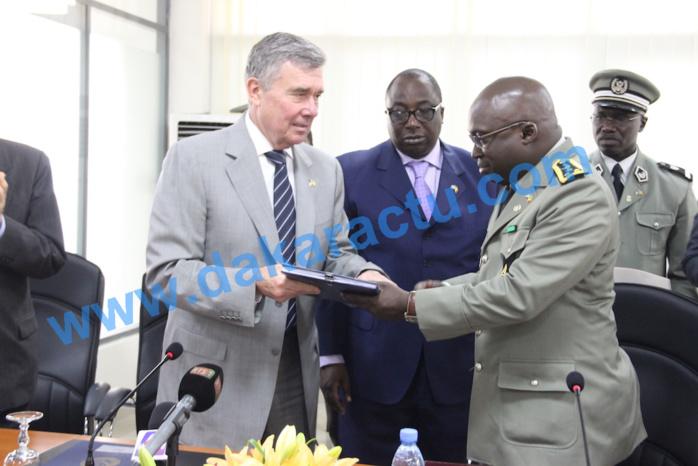 Les images de la signature d'accords entre les Administrations douanières américaine et sénégalaise