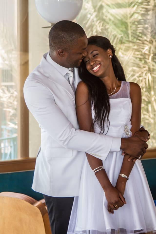 Shooting – Le mannequin Gorgui Douw Cissé en complicité avec sa belle femme Ama Ba