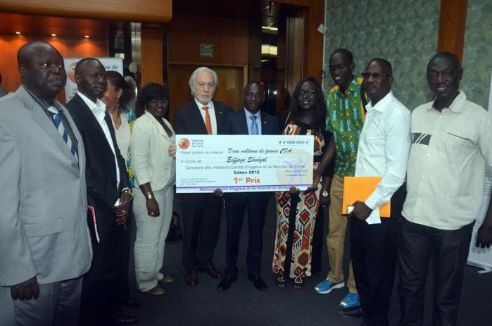 Eiffage Sénégal remporte la palme de la 1ère édition du Concours des Meilleurs Comités d'Hygiène et de Sécurité du Travail (CHST).