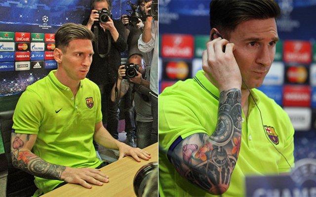 Messi et son nouveau bras tatoué
