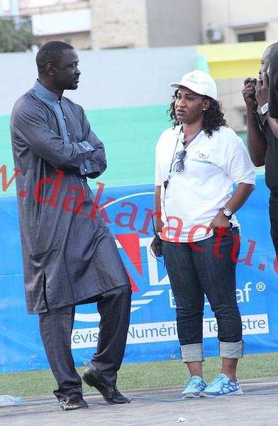 Sidy Diagne, le fils aîné de Ben Basse Diagne et patron d'Excaf en compagnie de Maya, la patronne du TNT