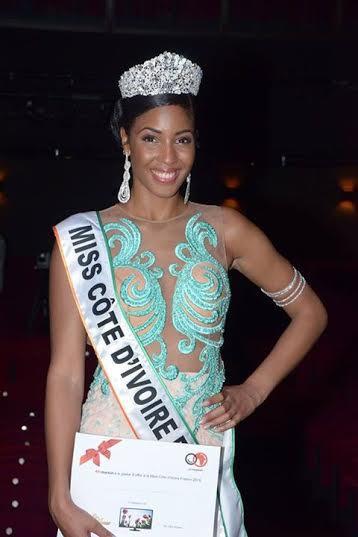Hyllen Legré, élue Miss Cote d'Ivoire France 2015