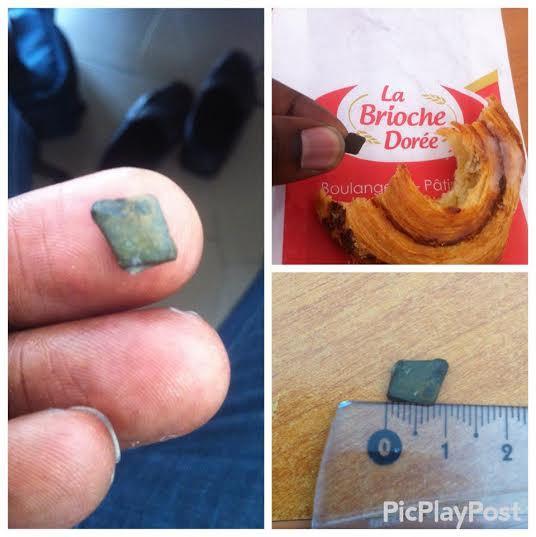 ALERTE : Un bout de pierre retrouvée dans un croissant de la Brioche Dorée
