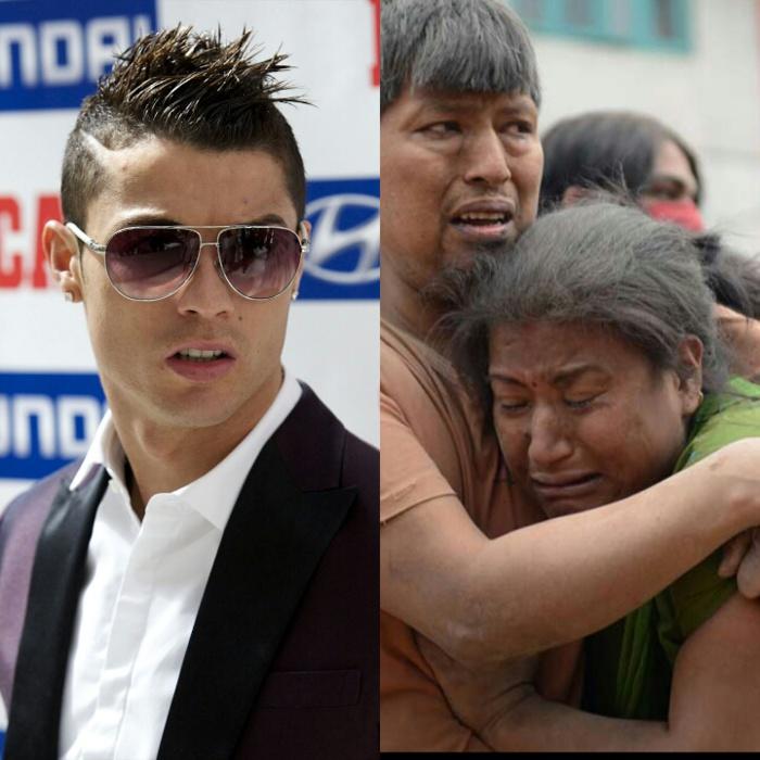 Cristiano Ronaldo vient en aide au Népal