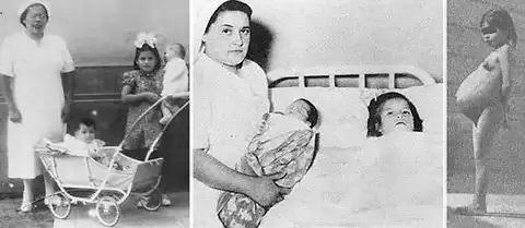 14 mai 1939. Lina, seulement 5 ans, accouche d'un beau bébé de 2,7 kg, à Lima