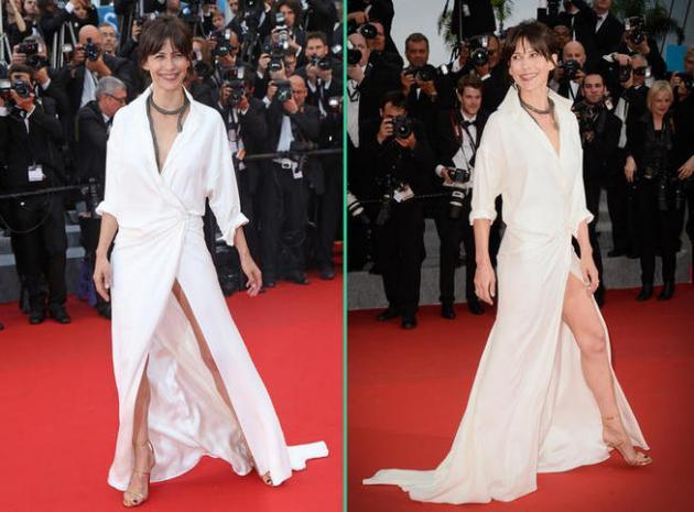Cannes 2015 : après un sein, Sophie Marceau dévoile sa culotte sur le tapis rouge