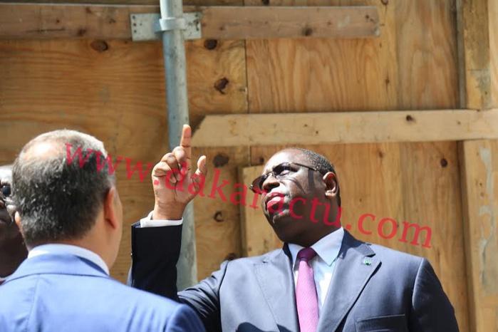 IMAGES : Le président Macky Sall, en compagnie de l'Ambassadeur Babacar DIagne, a visité la maison du Sénégal à New York