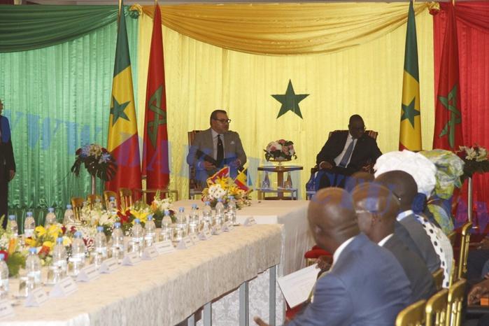 Les images de la signature des protocoles entre le président de la République Macky Sall et le roi du Maroc Mohamed VI