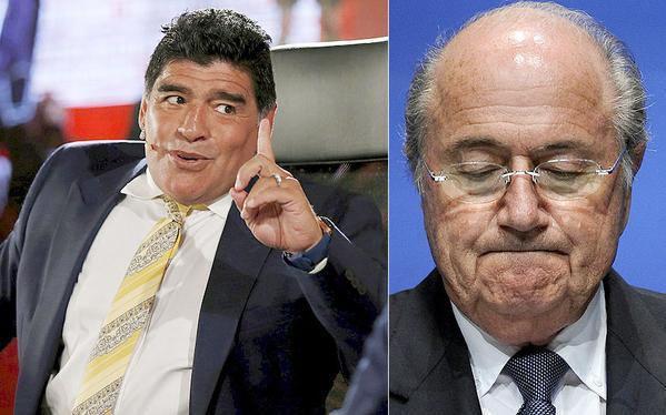"""Diego Maradona compare Sepp Blatter, le président de la Fifa, à un """"dictateur à vie"""""""