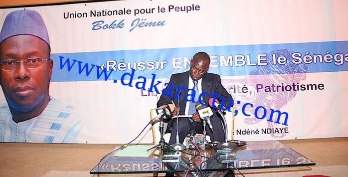 IMAGES : Souleymane N'déné N'diaye a lancé l'Union Nationale pour le Peuple (UNP)