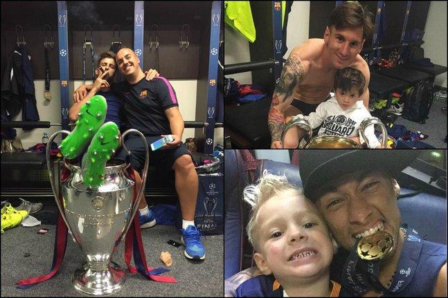Le cigare de Piqué, Messi et Neymar en famille: entrez dans le vestiaire du Barça
