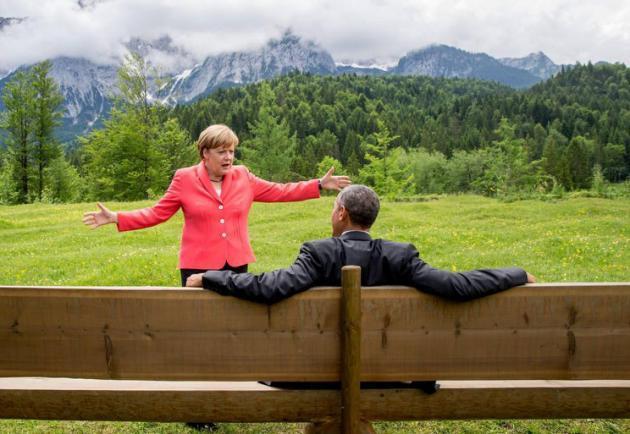 Cette photo d'Obama et Merkel vaut le détour(nement)