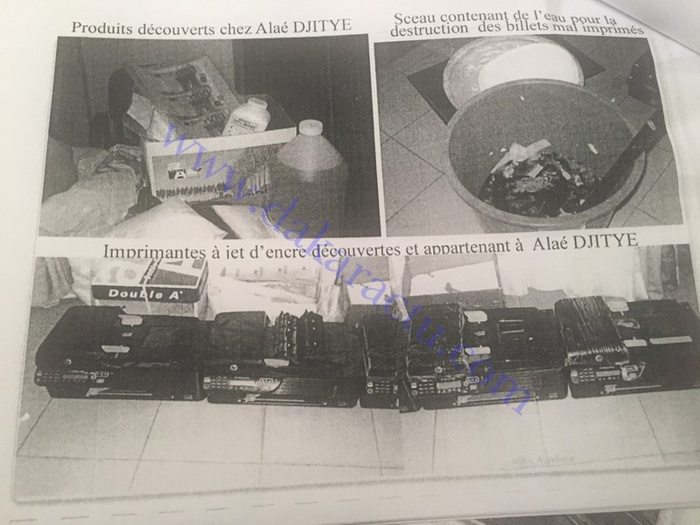Affaire des faux billets : Ce que Alaye Djitèye a dit aux enquêteurs