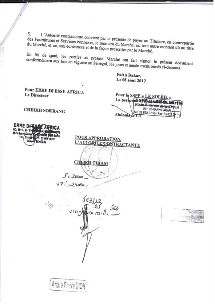 Gestion de la « SSP, le Soleil » par Cheikh Thiam : Les documents qui démentent l'IGE...