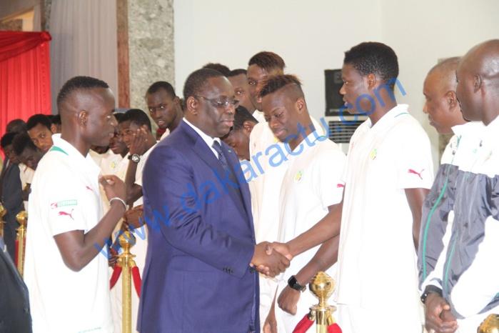 Les images de la réception des Lions U20 par le Président Macky Sall
