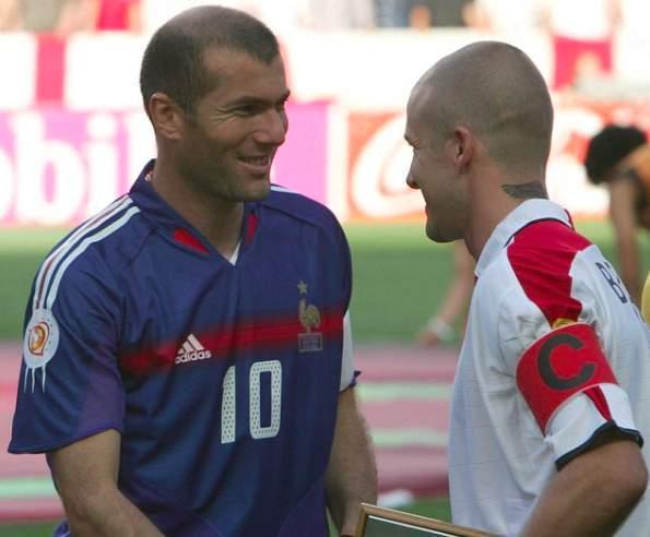 L'hommage de Beckham à Zidane