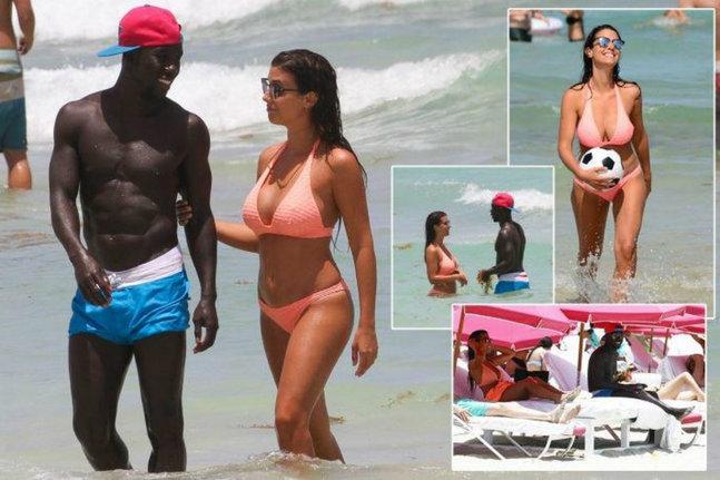 L'amour à la plage pour Bacary et Ludivine Sagna