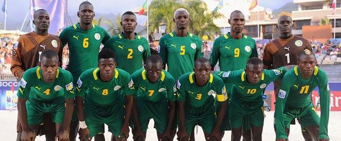 Coupe du monde de Beach Soccer : Les lions ont reçu le drapeau national