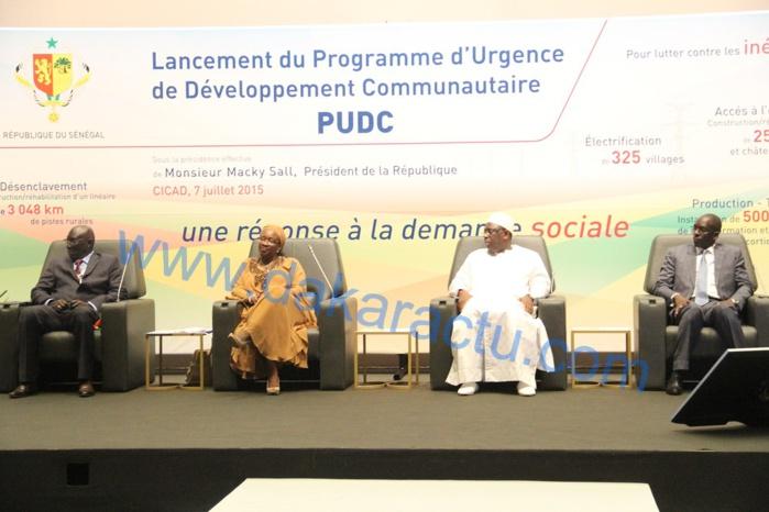 Les images du lancement du Programme d'Urgence de Développement Communautaire ( PUDC ) présidé par le chef de l'Etat Macky Sall