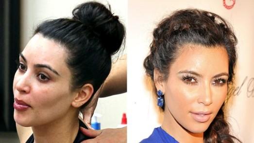 Kim Kardashian : avec et sans maquillage, différence épatante!