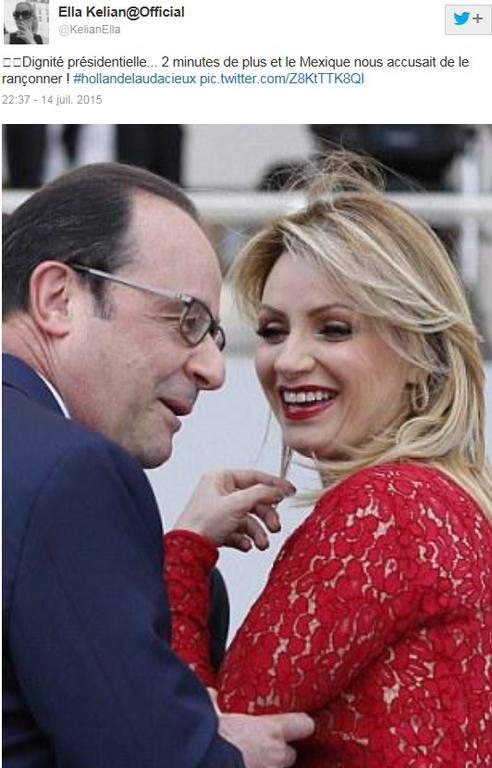 LA PHOTO WTF : FRANÇOIS HOLLANDE (TROP ?) TACTILE AVEC LA FEMME DU PRÉSIDENT MEXICAIN