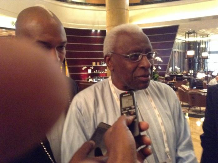 """Lamine Diack, président  Iaaf : """"Diagna N'diaye sera à la hauteur de la tâche qui lui est confiée"""""""