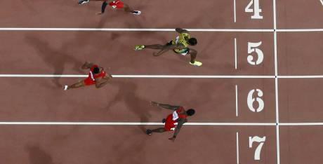 """Athlétisme - Finale du 100m hommes à Pékin: Usain Bolt champion du monde en 9""""79"""