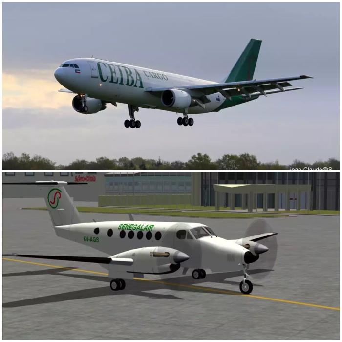 HYPOTHESE : Si l'avion de Ceiba avait croisé l'avion de Sénégal Air dans les côtes dakaroises