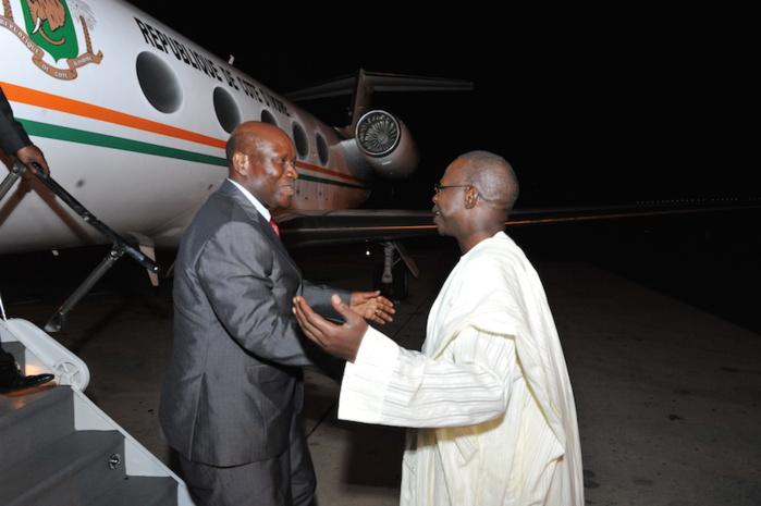 Images de l'arrivée du Premier ministre de la République de Côte d'Ivoire