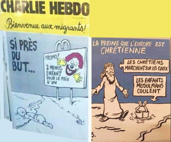 Les dessins de Charlie Hebdo sur la mort du petit Aylan scandalisent à l'étranger