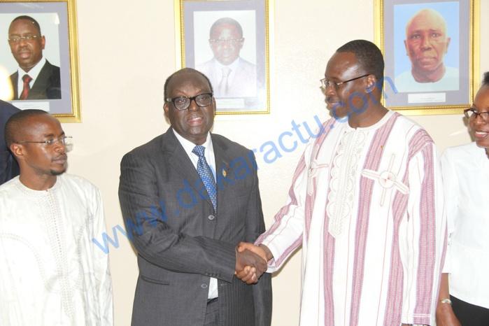Images de l'Audience accordée par le Président de l'Assemblée nationale au Premier ministre du Burkina Faso