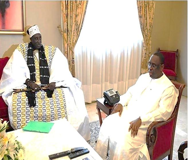 Le Président Macky Sall en tête-à-tête avec le Grand Serigne de Dakar Pape Ibrahima Diagne Bassirou