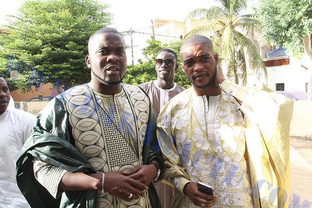 Khadim et Massamba Niang, les fils de Me Madické Niang au mariage de Mara Ndiaye