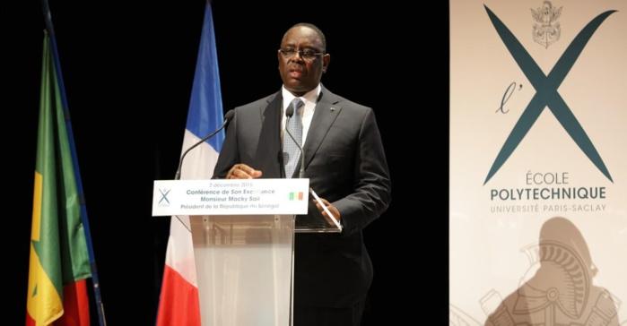 Ecole Polytechnique Université Paris-Saclay : Macky Sall indique les quatre secteurs stratégiques pour le développement de l'Afrique