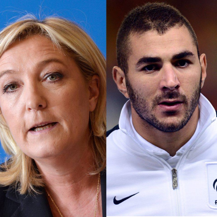 """Marine Le Pen : """" Benzema n'aurait jamais dû entrer en équipe de France """""""