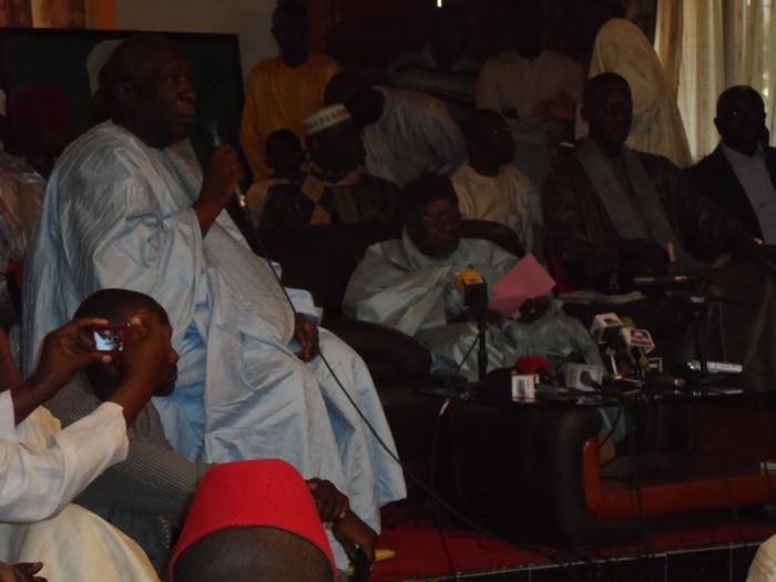 Images de la déclaration de Serigne Abdou Aziz Sy Al Amine