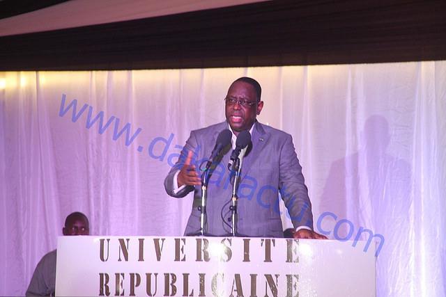 CEREMONIE D'OUVERTURE UNIVERSITE REPUBLICAINE : Discours du président Macky Sall