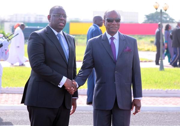 Le président Macky Sall est arrivé à Conakry