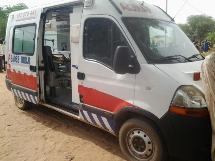 La Sades offre une ambulance médicalisée au poste de santé de Dodji