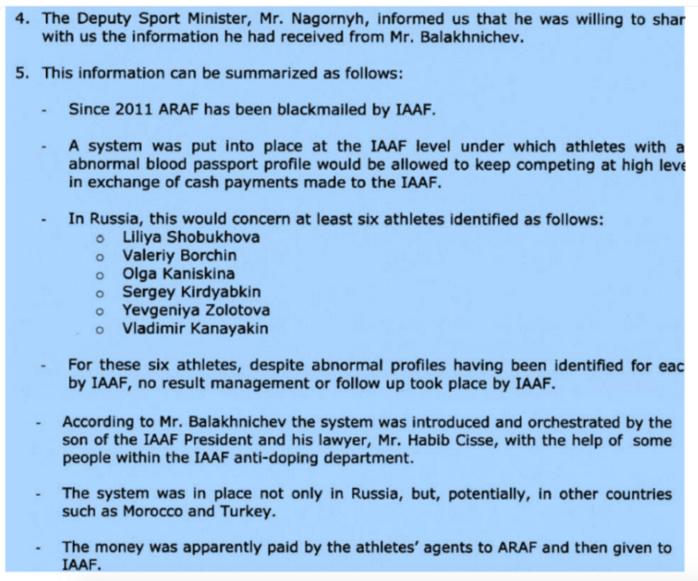 Dopage dans l'athlétisme : suspension à vie requise contre trois responsables