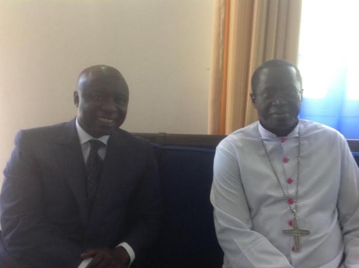 VISITE : Le leader de Rewmi Idrissa Seck chez l'archevêque de Dakar, Mgr Benjamin N'diaye