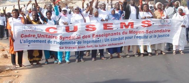 EDUCATION : Le CUSEMS a déposé un préavis de grève d'une année