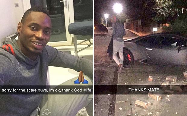 ACCIDENT : Diafra Sakho crashe sa Lamborghini dans une maison