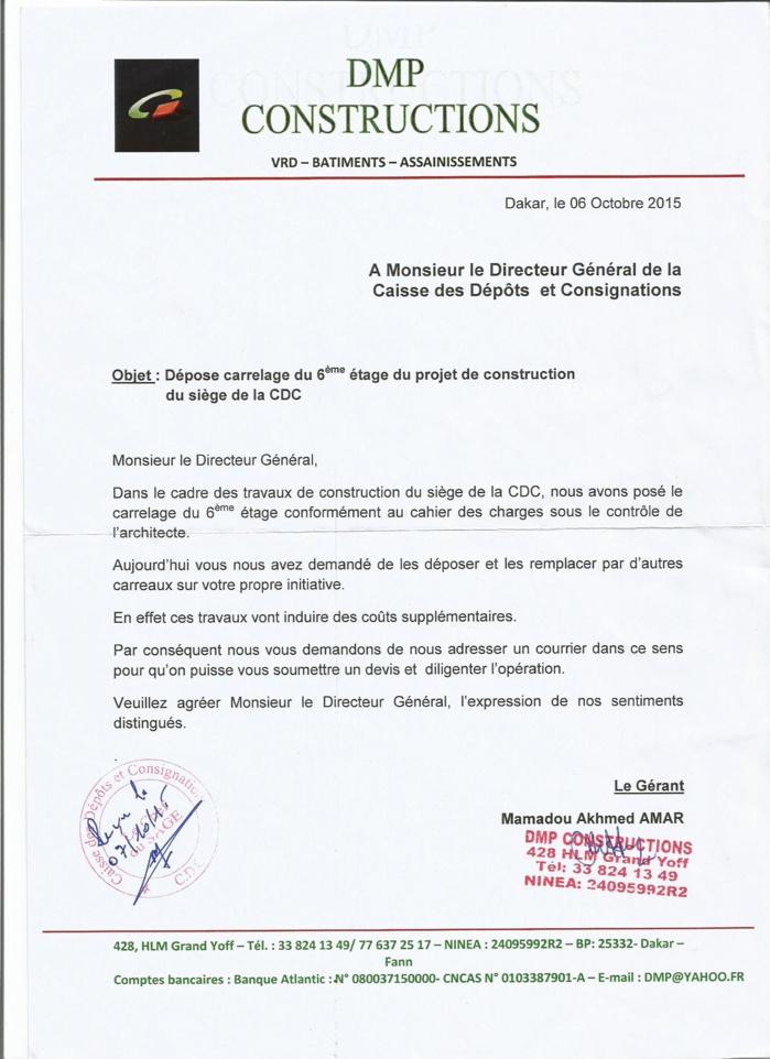 courrier restitution retenue de garantie