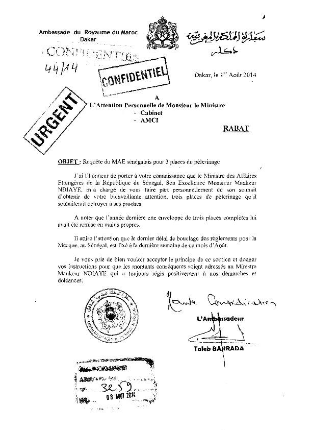 Un site marocain publie un mail gênant pour Mankeur N'diaye