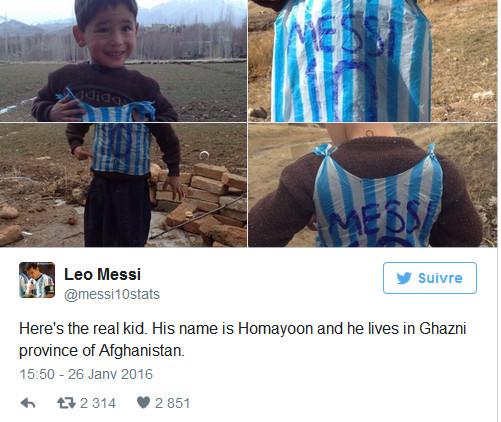 Affaire du sac Messi : L'enfant Kurde a menti, et voici le vrai fan!