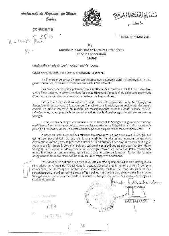 Acquisition de matériel militaire de haute technologie par le Sénégal de l'Etat Juif : Quand le Maroc espionne nos relations avec Israël