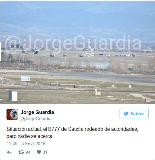 Alerte à la bombe à bord d'un vol Madrid-Riyad