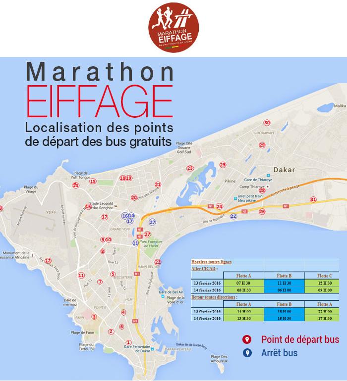 A la découverte des circuits et navettes du Marathon Eiffage