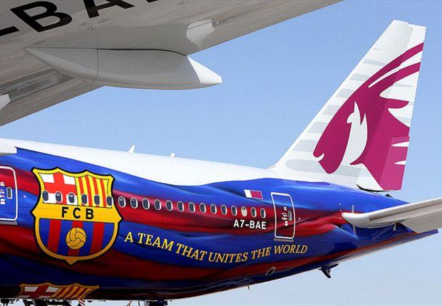 Manifestation dans l'avion du Barça